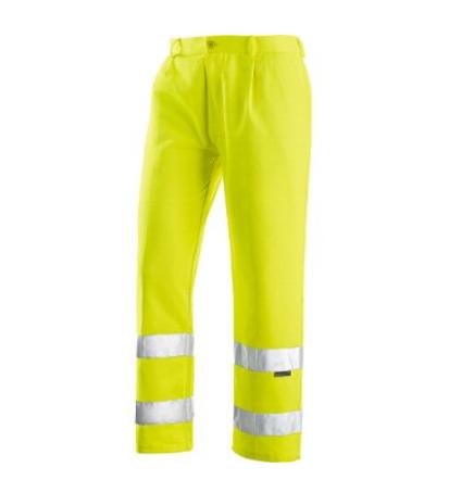 Pantaloni Reflex A.V. 60% Cotone 40% Poliestere, con Bande 3M. Colore Giallo.