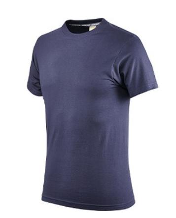 Maglietta in Cotone Mezza Manica, Colore Blu