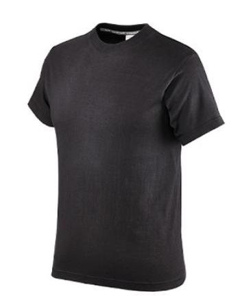 Maglietta in Cotone Mezza Manica, Colore Nero