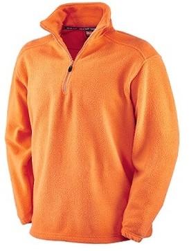 Pile 100% Poliestere con Collo a Lupetto. Colore Arancio