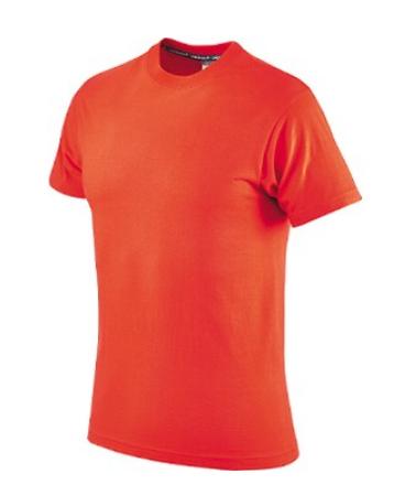 Maglietta in Cotone Mezza Manica, Colore Arancione