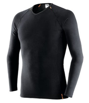 Maglietta in Fibra di Soia, Manica Lunga. Colore Nero